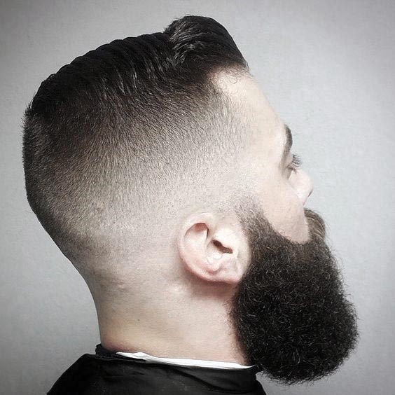 Mens Short Hair Shaved Sides With Beard Styles