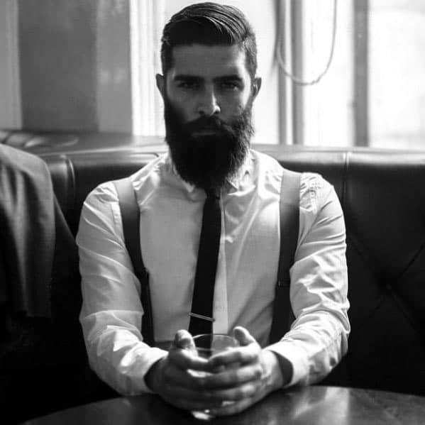 Mens Short Haircut Styles With Cool Beard