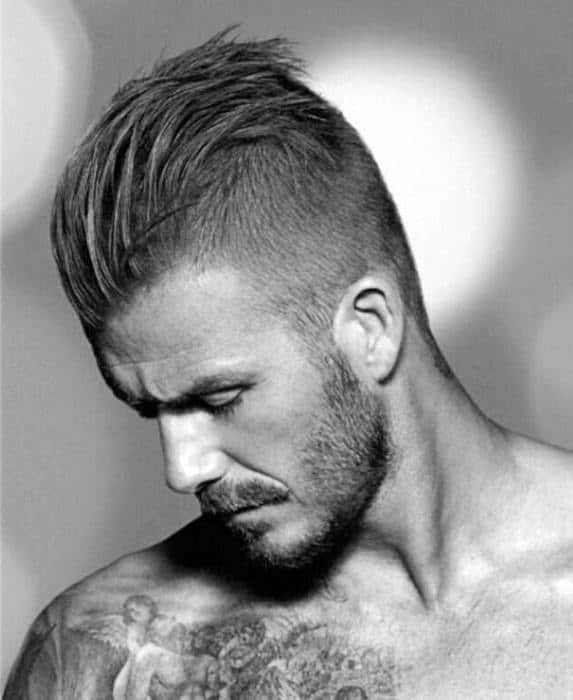 Mens Short Side Hairstyles Slicked Back