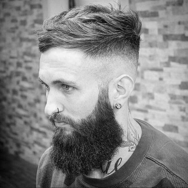 Mens Short Wavy Hair With High Fade