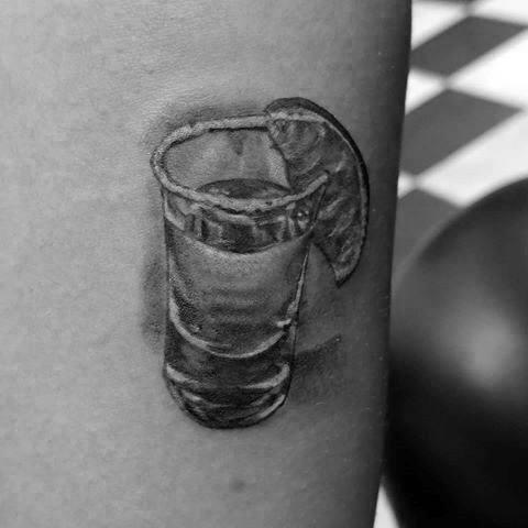 Mens Shot Glass Tattoo Ideas