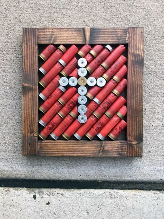 Mens Shotgun Shell Cross Bachelor Pad Wall Art