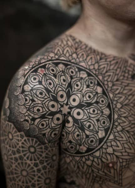 Men's Shoulder Tattoo