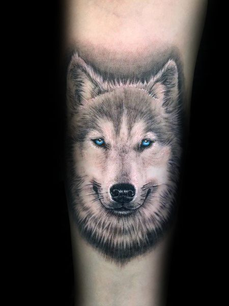 Mens Siberian Husky Tattoos