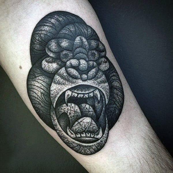 Mens Silverback Gorilla Tattoo