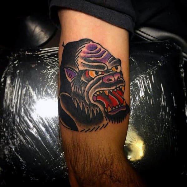 Mens Silverback Gorilla Tattoos