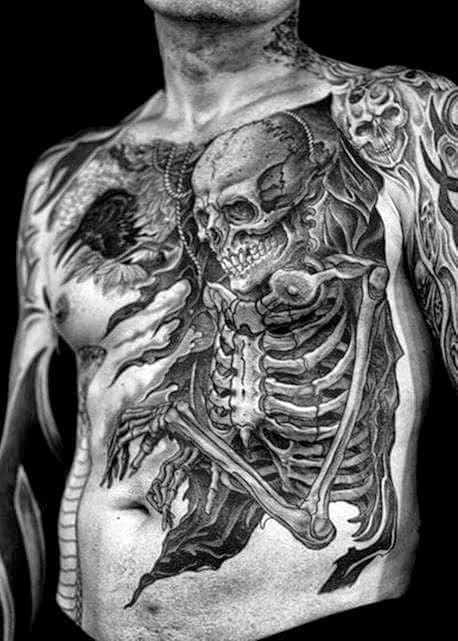 Men's Skull Tattoo Ideas