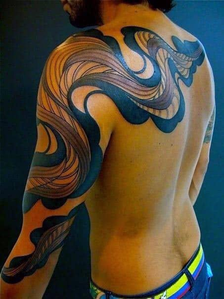 Men's Sleeve And Back 3D Tattoos