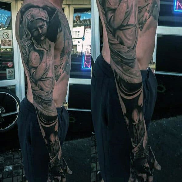 Mens Sleeves Manly Religious Tattoos