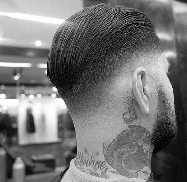 Mens Slicked Back Hair