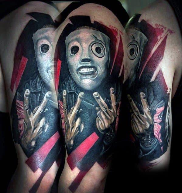 Mens Slipknot Arm Tattoo Design Inspiration