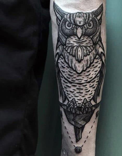 Men's Small Bird Tattoo