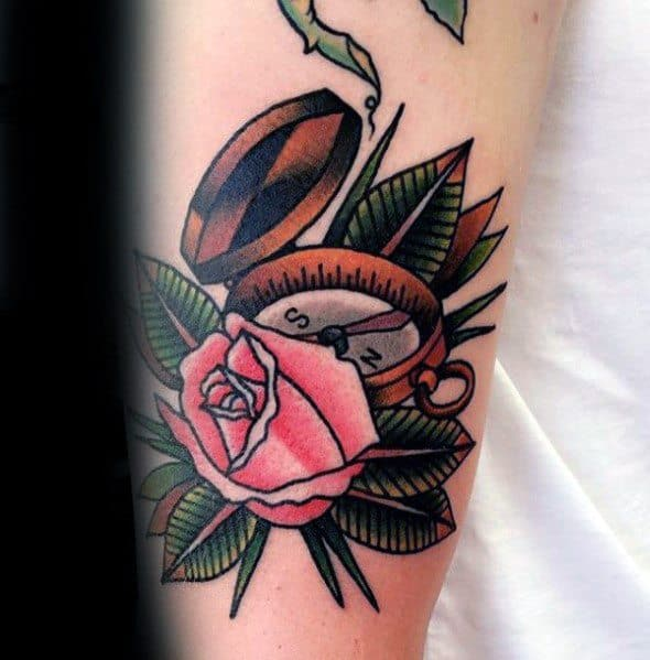 Mens Small Compass Tattoo Ideas