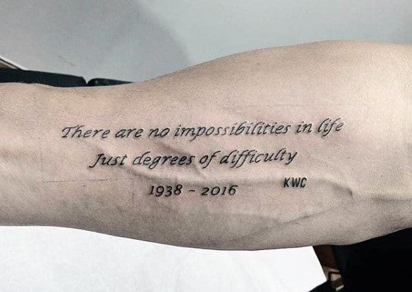 Top 41 Forearm Quote Tattoo Ideas 2020 Inspiration Guide