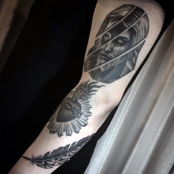Mens Small Jesus Tattoo Ideas On Arm