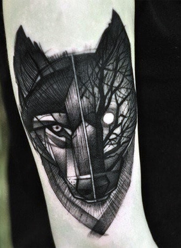 Men's Small Wolf Tattoos