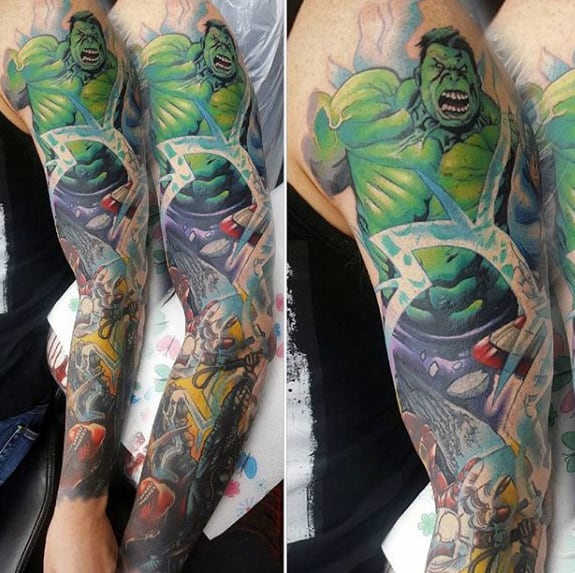 60 Marvel Tattoos For Men - Superhero Comic Design Ideas