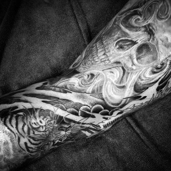 Men's Smoking Gun Tattoo