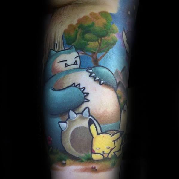 Mens Snorlax Tattoo Design Ideas