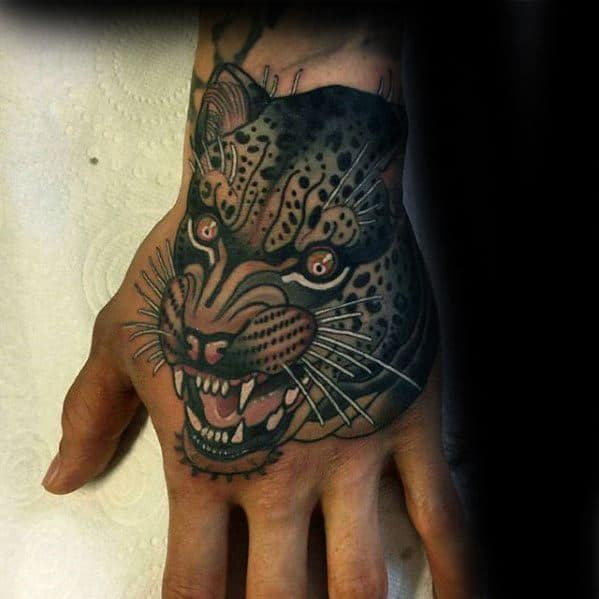 Mens Snow Leopard Tattoo Ideas
