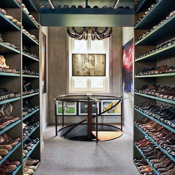 Mens Spacious Dress Shoe Closet Shelving