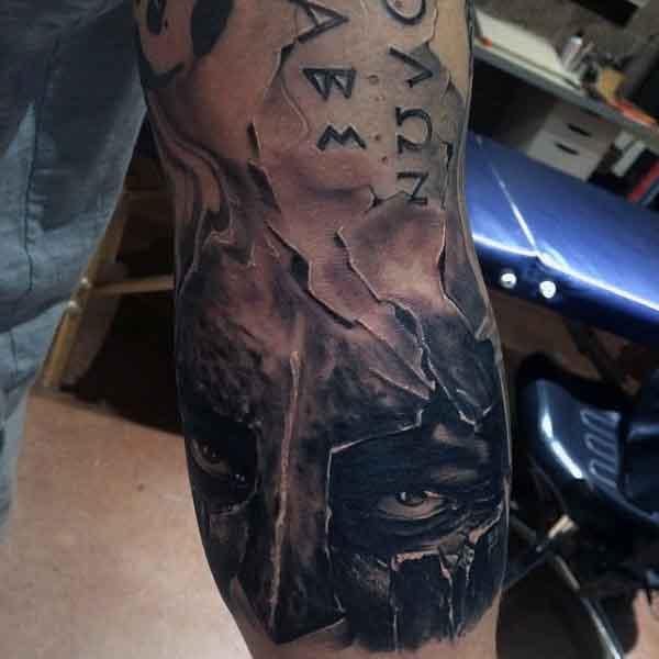 Men's Spartan Tattoo