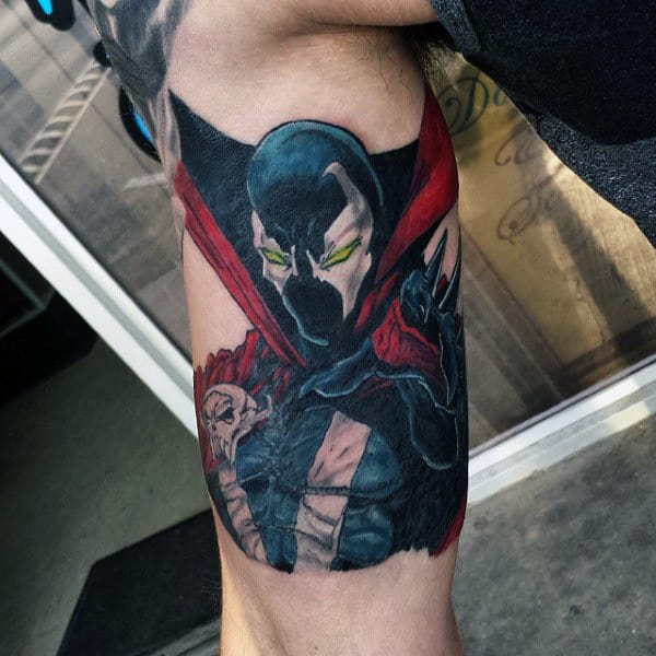 Mens Spawn Inner Arm Bicep Tattoos