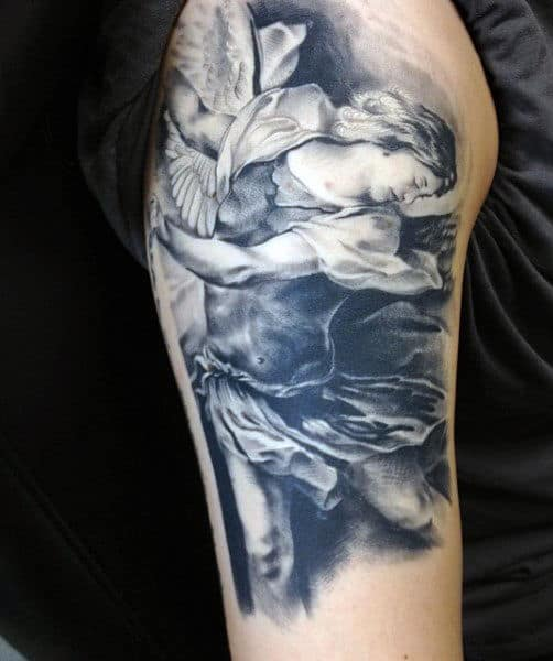 Men's St Micheal Tattoo