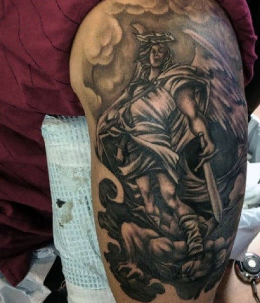 Men's St Micheal Tattoos