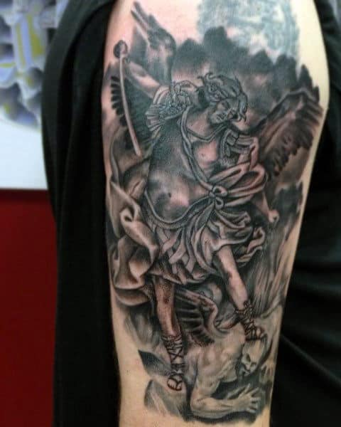 Men's St Micheals Tattoo