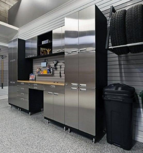 Mens Stainless Steel Masculine Garage Cabinet Storage