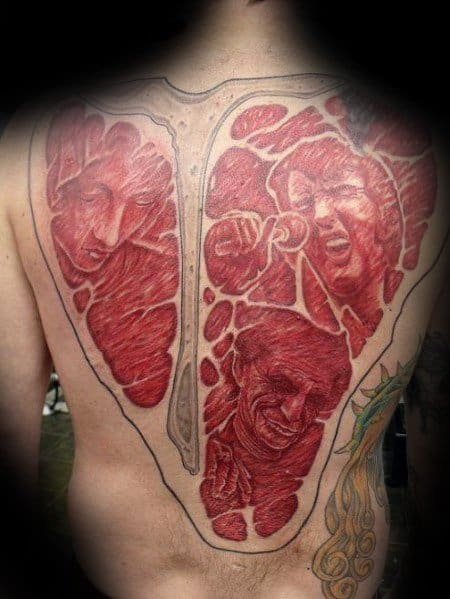 Mens Steak Tattoo Ideas