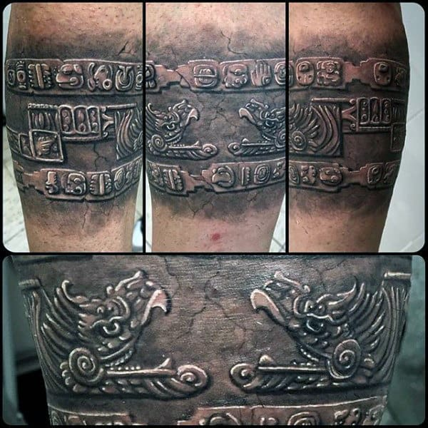 Mens Stone Mayan Armband Tattoo Designs