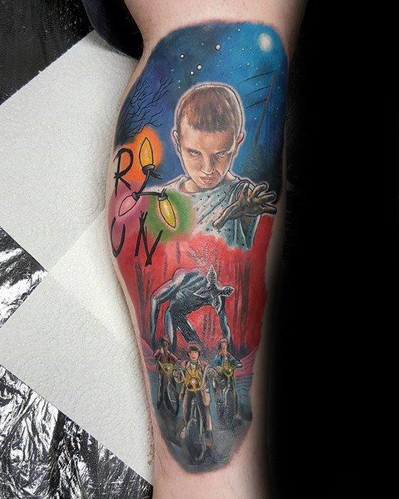Mens Stranger Things Tattoo Ideas