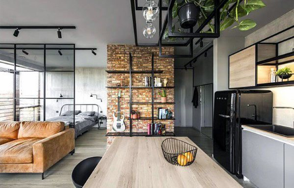 Mens Studio Apartment Design Ideas