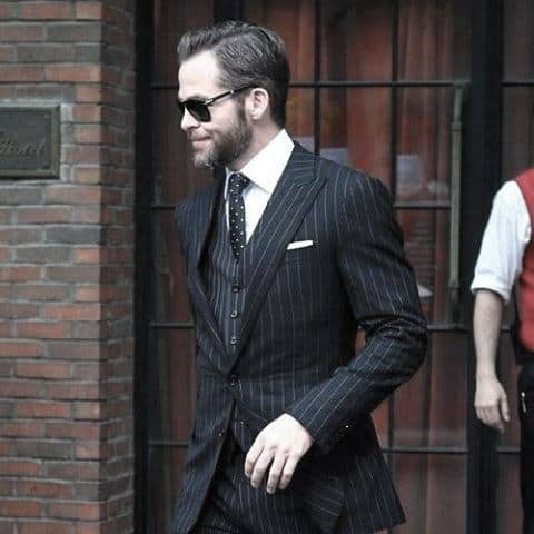 Mens Style Ideas Pinestripe Black Suits