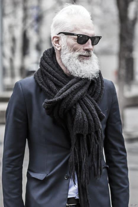 Mens Stylish Grey Beard Trimmed Ideas