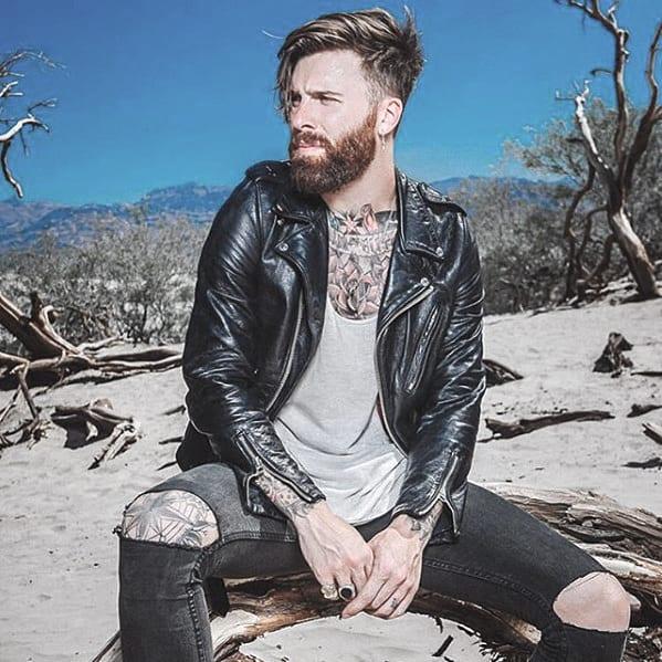 Mens Stylish Medium Beard Trimmed Ideas