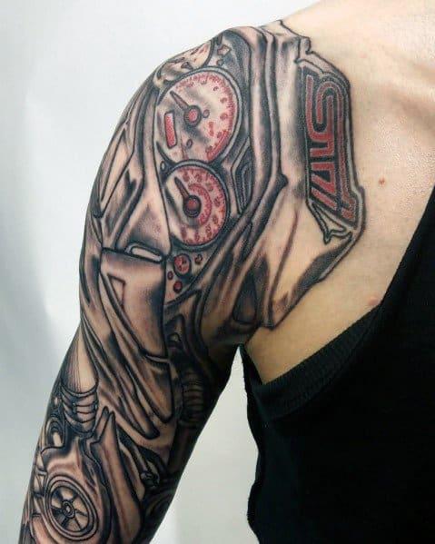 Mens Subaru Tattoo Designs