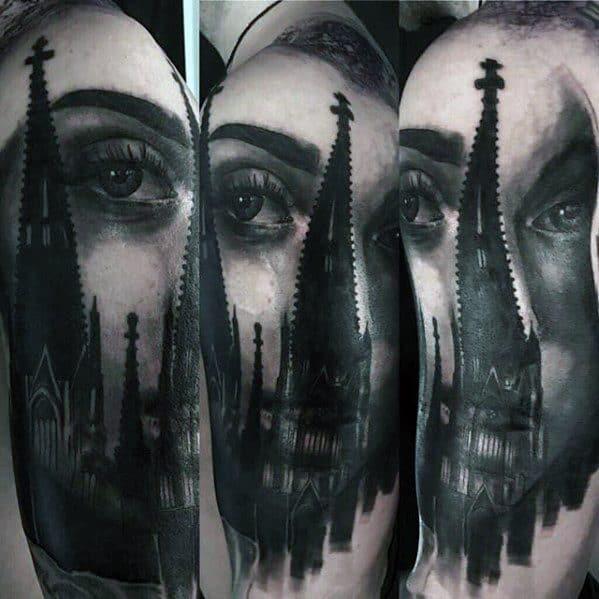 Mens Surrealism Tattoo Design Ideas