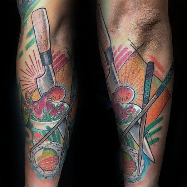 Mens Sushi Tattoo Design Ideas Outer Frearm