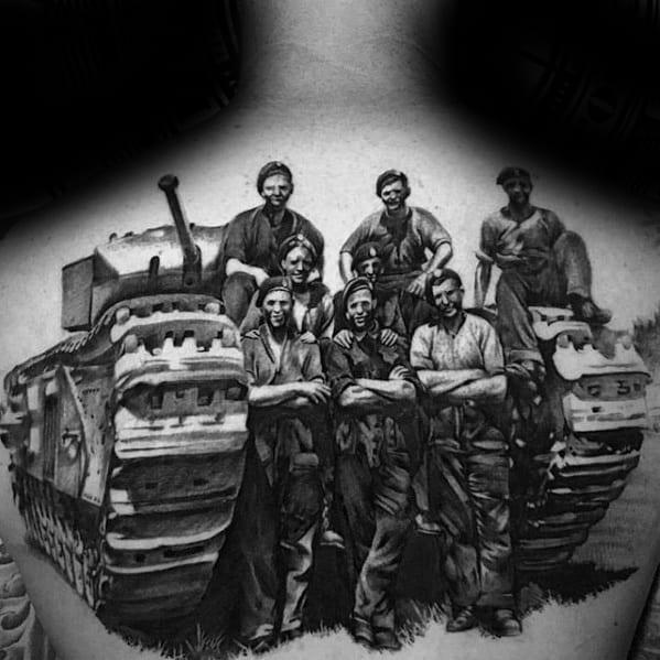 Mens Tank Tattoo Design Ideas