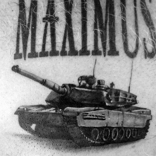 Mens Tank Tattoo Design Inspiration