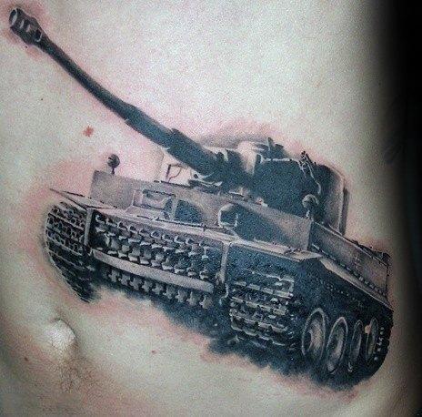 Mens Tank Tattoo