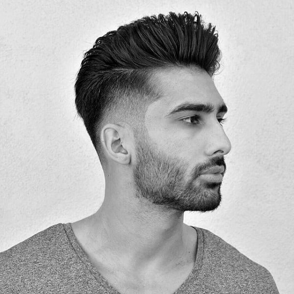 Mens Taper Fade Haircut Long On Top