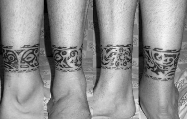 Mens Tattoo Ankle Band Design