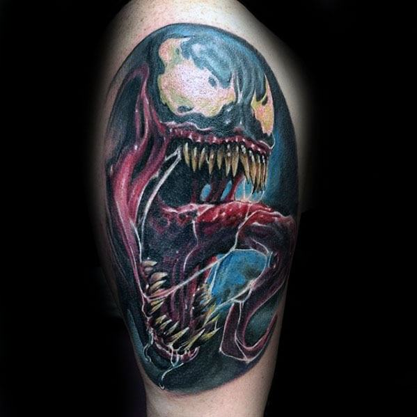 venom tattoo designs for men marvel ink ideas