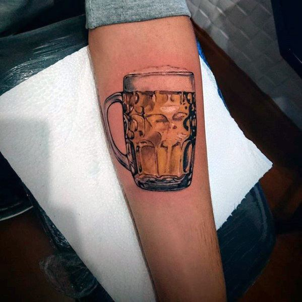 Mens Tattoo Beer Design