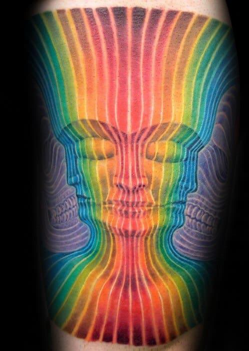 Mens Tattoo Consciousness Design Forearm Sleeve