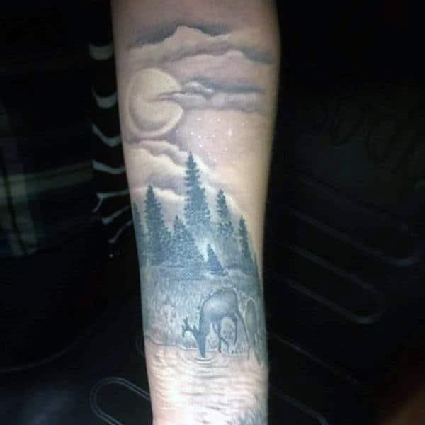 Mens Tattoo Deer Designs